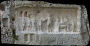 A funerary bas-relief.