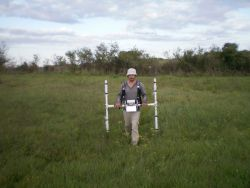 Geophysical measurements in progress (fot. Kaniszewski J.)