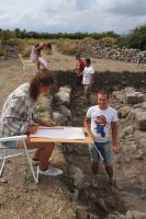 The students are drawing the architectural remains. The best field-school. Fot. R. Chowaniec